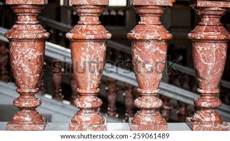 Closeup of columns in Museum of Art History, Vienna - stock photo