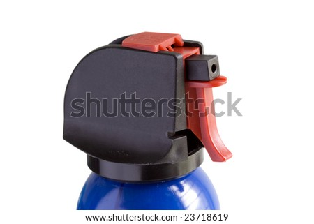 closeup of compressed gas air duster - stock photo