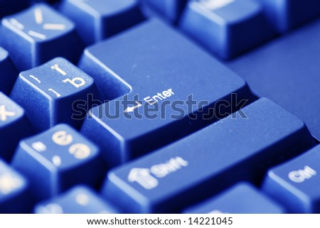 Closeup of computer keyboard. Enter.