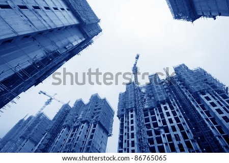 closeup of construction site in china - stock photo