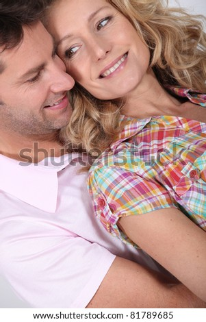 Closeup of couple in love