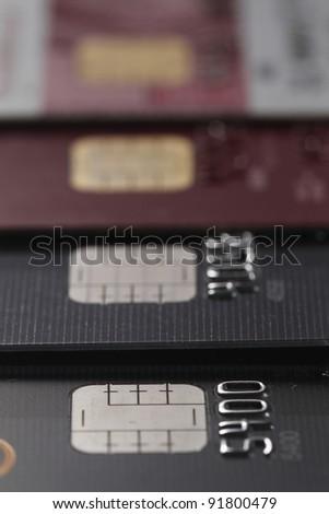 closeup of credit card - stock photo