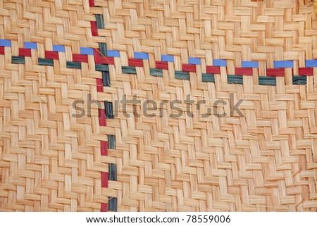 Closeup of date palm basket showing the interlocking texture - stock photo
