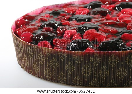 Closeup of delicious fruit pie with berries. - stock photo