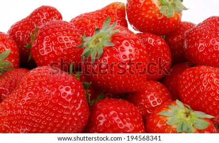 closeup of delicious red strawberry - stock photo