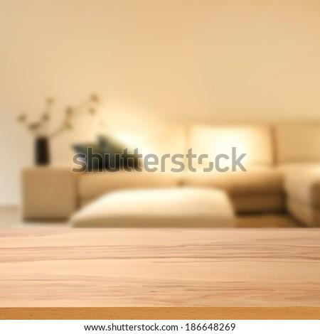closeup of desk and interior  - stock photo