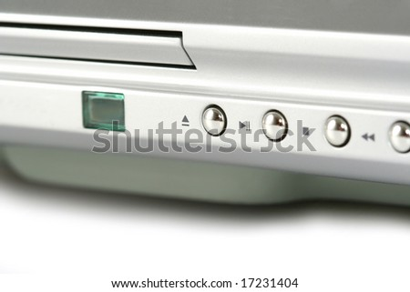 closeup of dvd player control - stock photo