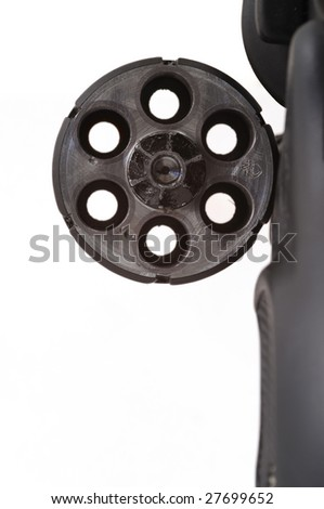 closeup of empty revolver - stock photo
