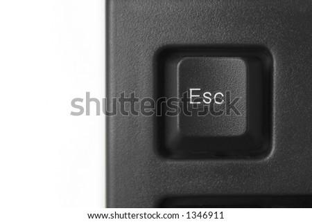 Closeup of esc key - stock photo