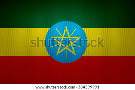 Closeup of Ethiopia flag