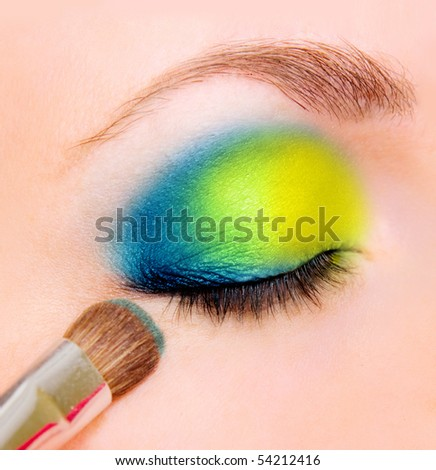 closeup of eye with beautiful make up