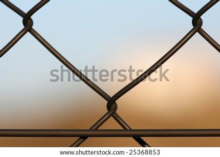 Closeup of fence - stock photo