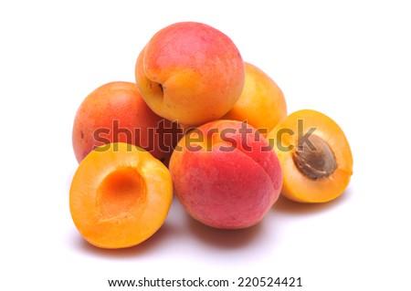 Closeup of fresh apricot - stock photo