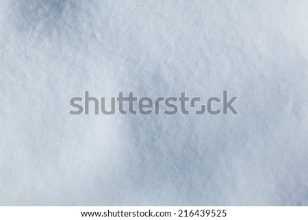 Closeup of freshly snowed up field  - stock photo