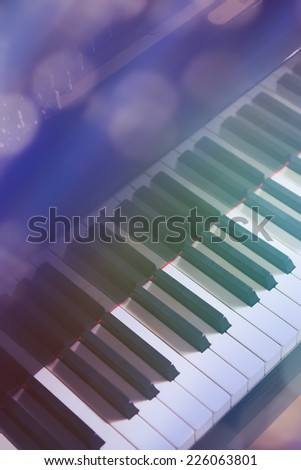 Closeup of Grand Piano - stock photo