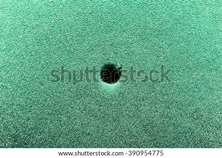 Closeup of green sponge texture background. - stock photo