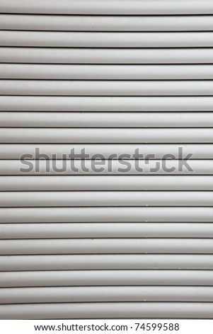 closeup of grey office blinds