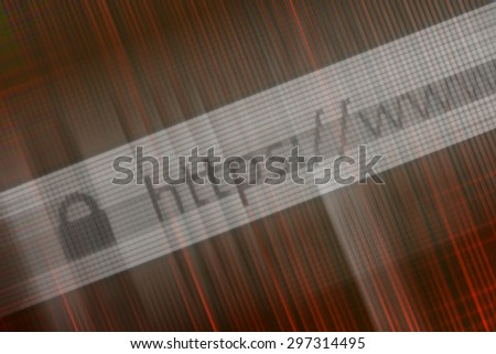 Closeup of Http Address in Web Browser in Shades of red - stock photo