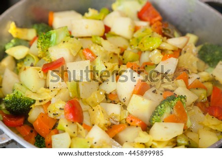 Closeup of Indian vegetable dish sabzi
