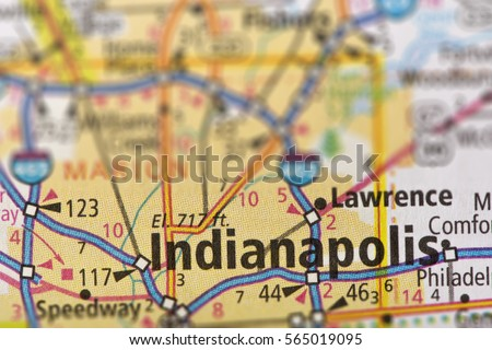 Indiana Map Stock Images RoyaltyFree Images Vectors Shutterstock - Indianapolis indiana usa map