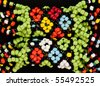 closeup of  intricate traditional african bead work - stock photo