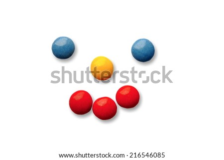 closeup of isolated nice colorful sweets