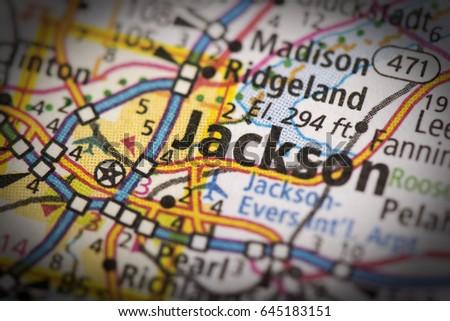 Jackson Mississippi Stock Images RoyaltyFree Images Vectors - Jackson mississippi on us map