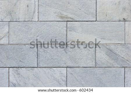 Closeup of large granite blocks. - stock photo