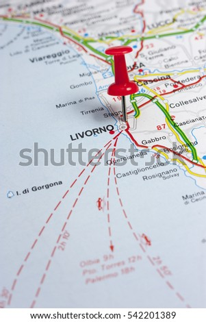 Map Of Livorno Stock Images RoyaltyFree Images Vectors