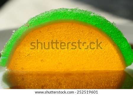 Closeup of marmalade candy - stock photo
