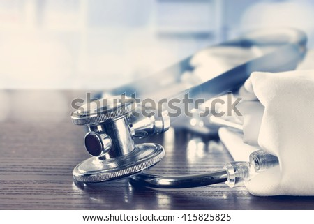closeup of medical tools  - stock photo