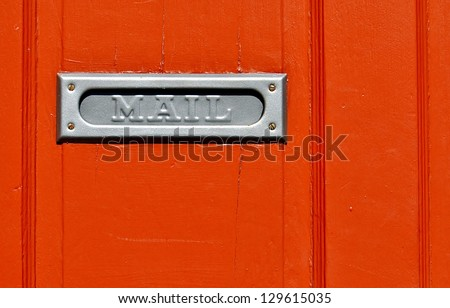 Closeup Of Metal Mail Slot On Orange Door In New Orleans French Quarter & Mail Slot On Door Stock Images Royalty-Free Images \u0026 Vectors ... Pezcame.Com