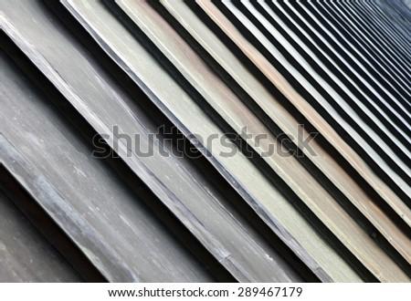 Closeup of metal roof - stock photo