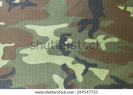 closeup of military uniform surface - stock photo