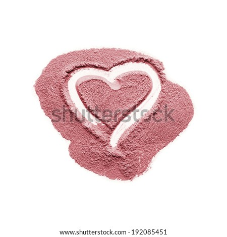 Closeup of mineral blush - stock photo