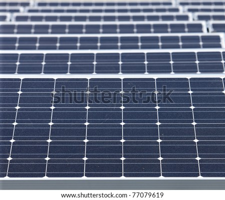 closeup of modern solar panels