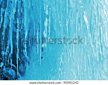 closeup of natural blue ice - stock photo