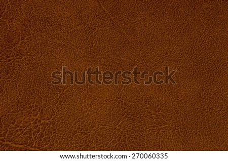 Closeup of Natural brown leather texture  - stock photo