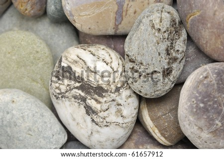 closeup of natural pebbles background - stock photo