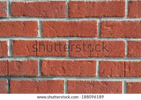 closeup of old brick wall background - stock photo