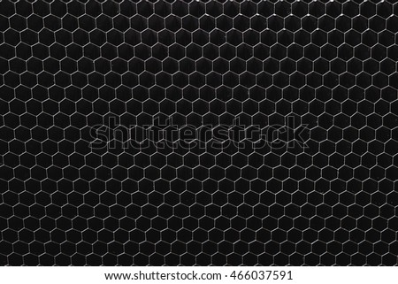 Closeup Of Old Honeycomb Grid For Abstract Background Use