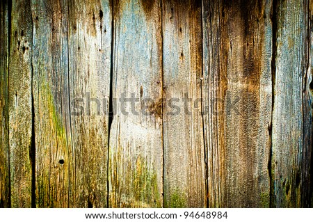 closeup of old wood planks texture background - stock photo