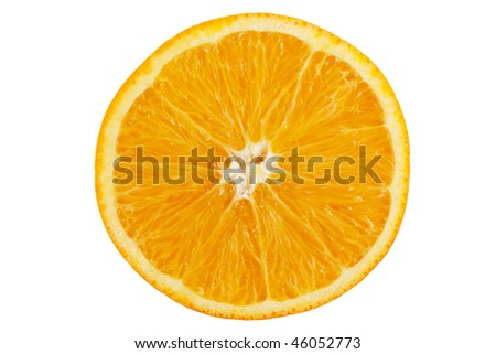 closeup of  orange - stock photo