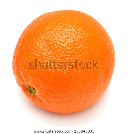 Closeup of orange isolated on white background - stock photo
