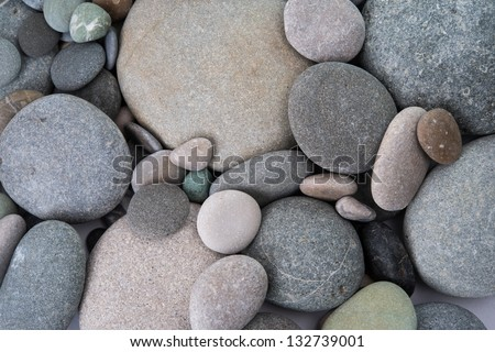 closeup of pebbles background - stock photo