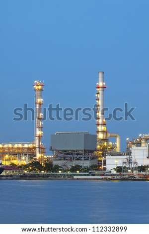 closeup of petrochemical oil refinery factory pipeline