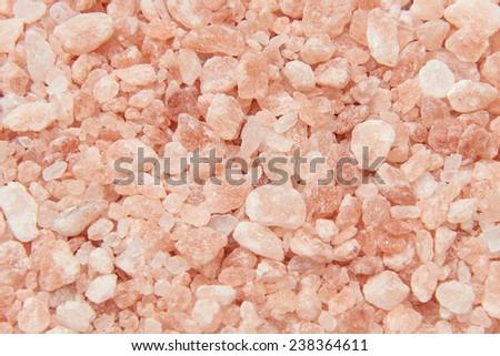 Closeup of pink Himalayan salt crystals - stock photo