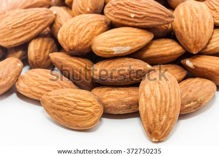 Closeup of raw Almonds