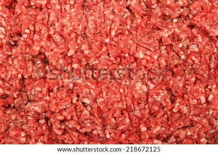 Closeup of raw minced beef as a background or texture - stock photo