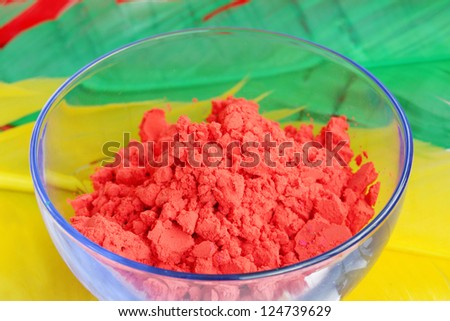 Closeup of red gulal - stock photo